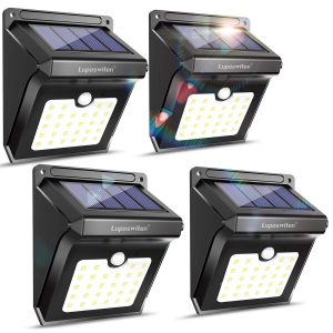 Luposwiten 28 LEDs Outdoor Solar Wireless Waterproof Security Wall Lights