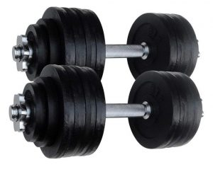 Dumbbells 2 X 52.5 LBS Total 105 Lbs. Adjustable Iron Set