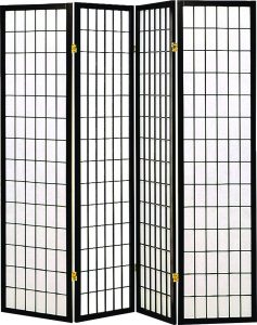 Coaster Home Furnishings Privacy Screen Oriental Shoji 4 Room Divider
