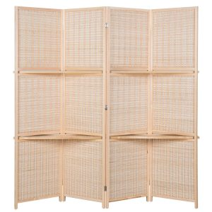 AVIGNON HOME Deluxe Woven Bamboo Room Divider:Screen 4 Panel