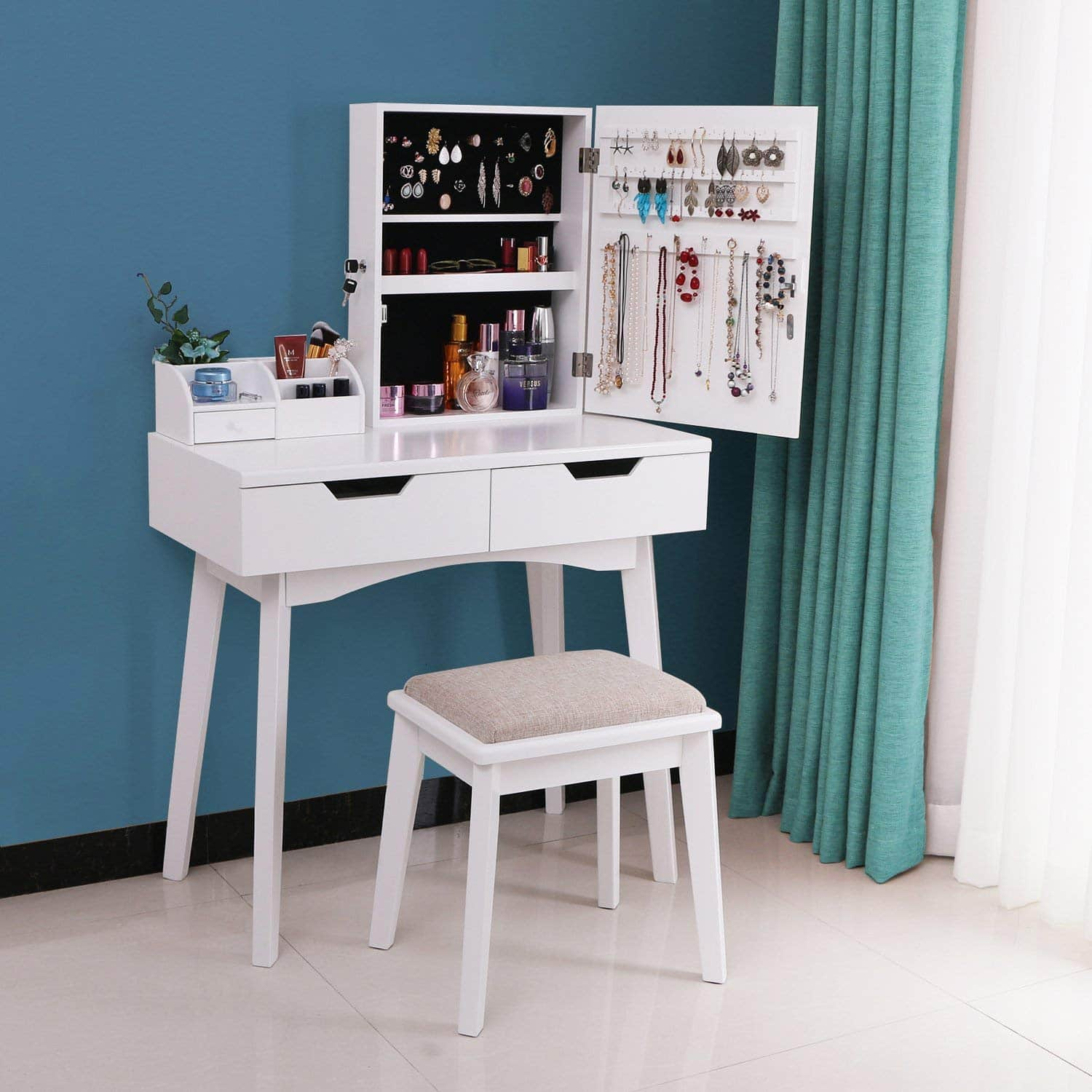 Top 10 Best Vanity Tables In 2020 Reviews Makeup Dressing Tables Hqreview