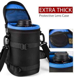 ESDDI Lens Case Extra Thick Protective Neoprene