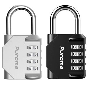 Puroma 2 Pack 4 Digit Padlock Combination Lock