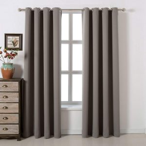 Acelitor Blackout 100% Polyester Bedroom Curtains