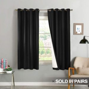 Vangao Blackout Curtains 63-inch Length for Bedroom, 2 Panels