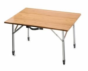 Camco Bamboo 51893 Folding Table with Aluminum Legs