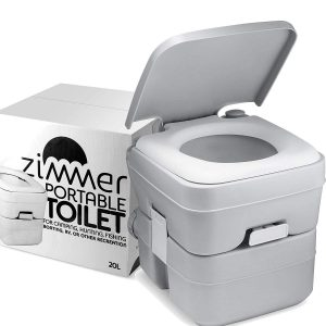 Zimmer Portable Camping Porta Potty with 5 Gallons Waste Tank