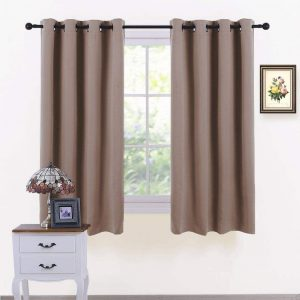PONY DANCE Home Decor Mocha Curtains-2 Pieces