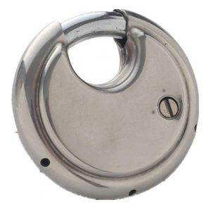 Dshall Four Digit Combination Hardened Steel Shackle Disc Padlock