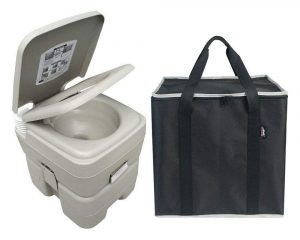 Leopard Outdoor T-Type 3 Directional Flush Portable 5.3 GallonTravel Toilet with Storage Bag