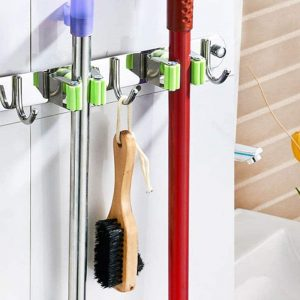 Mop and Broom Holder Stainless Steel Wall Mount Mop Holders
