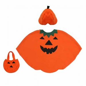Fedio 3Pcs Pumpkin Costume 3-6 years old