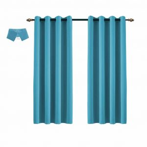 Yakamok Light Blocking for BedroomThermal Insulated Blackout Curtains