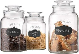 Home Essentials High-Quality Glass Chalkboard Jars