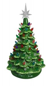 ReLive Christmas Lighted Tabletop Ceramic Tree