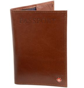 Alpine Swiss Blocking Leather Passport Cover