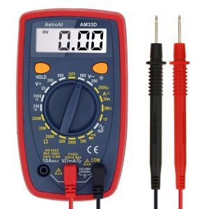 AstroAI Digital Ohm Volt Amp Multimeter