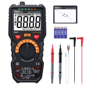 Multimeter, DM07 Track life 6000 Counts Auto-Ranging Current Detector