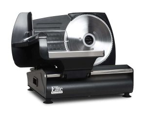 Maxi-Matic Elite Gourmet Die-Cast-Aluminum EMT-503B Electric 130 Watt Food Slicer