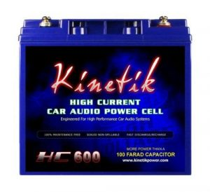 Kinetik HC600 BLU Series 600-Watt 12-Volt High Current AGM Car Battery