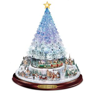 Bradford Exchange Thomas Kinkade Crystal Tabletop Christmas Tree