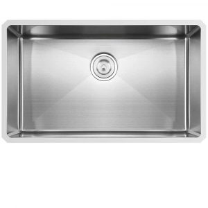Hotis Commercial Drop-In Undermount Single Bowl Handmade Stainless Steel Kitchen Sink