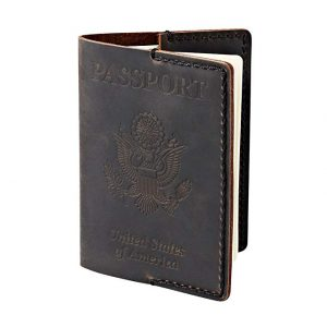 POROMO Leather Passport Cover