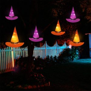 YUNLIGHTS Halloween String Lights Pumpkin Necklace Halloween Decorations