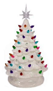 Opportunities Tabletop Ceramic White Christmas Tree