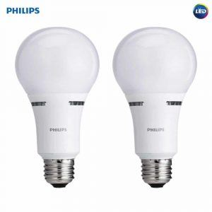 Philips LED 3-Way A21 2700-Kelvin Frosted Light Bulb, 2-Pack