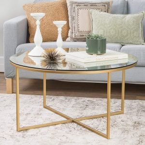 WE Furniture X-Base 36 inches Coffee Table