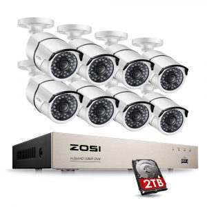 ZOSI Full HD 1080P PoE 120ft Night Vision Video Security Cameras