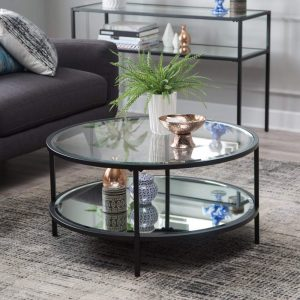 Lamont Round Black Coffee Table