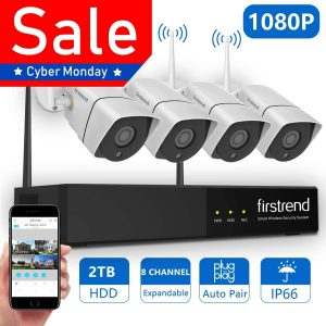Firstrend-1080P Wireless NVR Security Camera System
