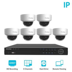 LaView 8 Channel Full 1080P Weatherproof Home Security Camera