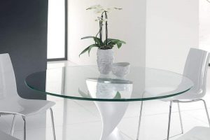 TroySys- Round 3:8 Thick Glass Table Top