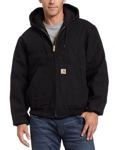 Men's Lined Duck Quilted Flannel Active Jacket