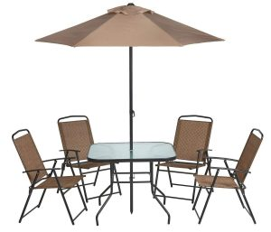 Mosaic Outdoor Folding Patio Dining Furniture Set