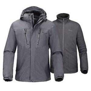 OutdoorMaster Men's Fleece Liner 3-in-1 Ski Jacket