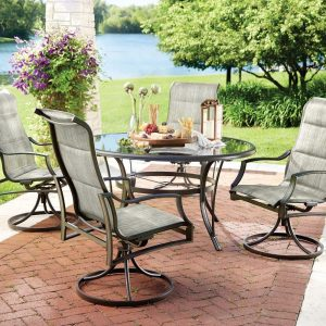 Statesville Padded Sling Patio Dining Set
