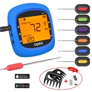 Oprol Wireless Digital BBQ Thermometer with 6 probes