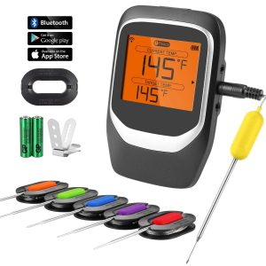 COMLIFE Digital Wireless Remote Meat Thermometer with 6 Probes