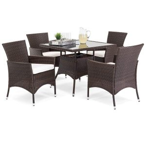 Best Choice Products Indoor Outdoor Wicker Patio Dining Set