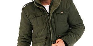 Yozai Mens Winter Military Warm Jacket