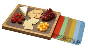 Seville Classics Easy-to-Clean Flexible Cutting Mats Bamboo Cutting Board