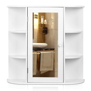 HOMFA Bathroom Wall Cabinet Kitchen Medicine Multipurpose Storage Organizer