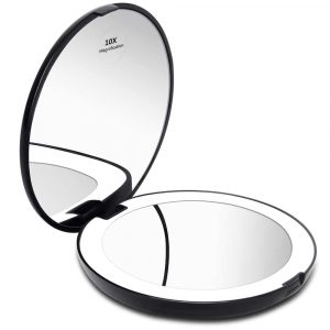 KEDSUM LED Lighted Magnification Compact Travel Mirror