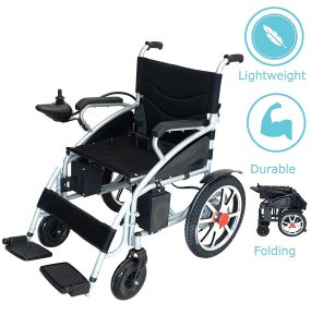 Culver Medical- New Electric Lightweight Folding Wheelchair