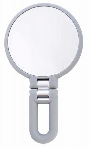 Danielle Creations Soft Touch 15X Magnification Folding Hand Held Mirror