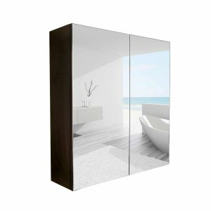 Elecwish 24 inches Mirrored Wide Wall Mount Bathroom Medicine Cabinet
